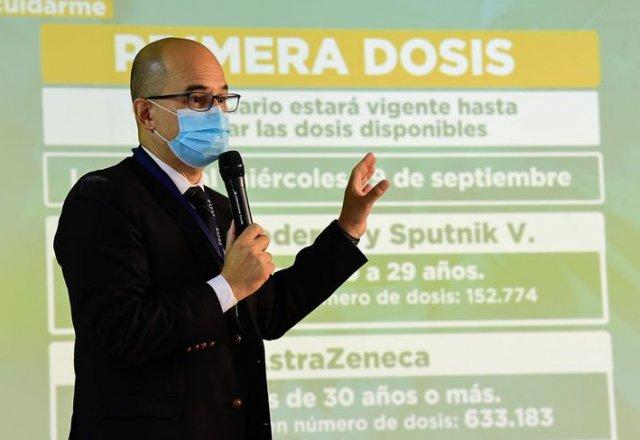 """SALUD LIBERA VACUNAS PARA PRIMERA DOSIS A MAYORES DE 20 AÑOS """"HASTA AGOTAR STOCK"""""""